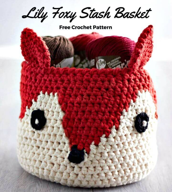 Crochet Foxy Stash Basket - Free Pattern
