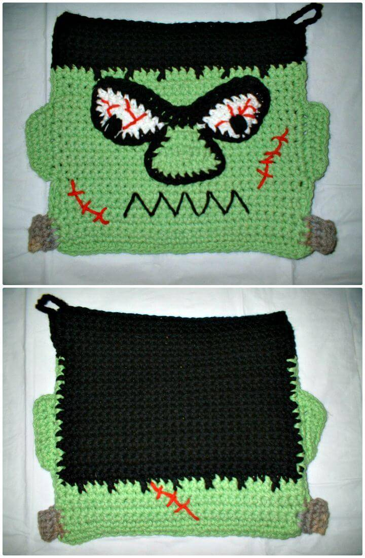 Crochet Frankie Potholder Pattern