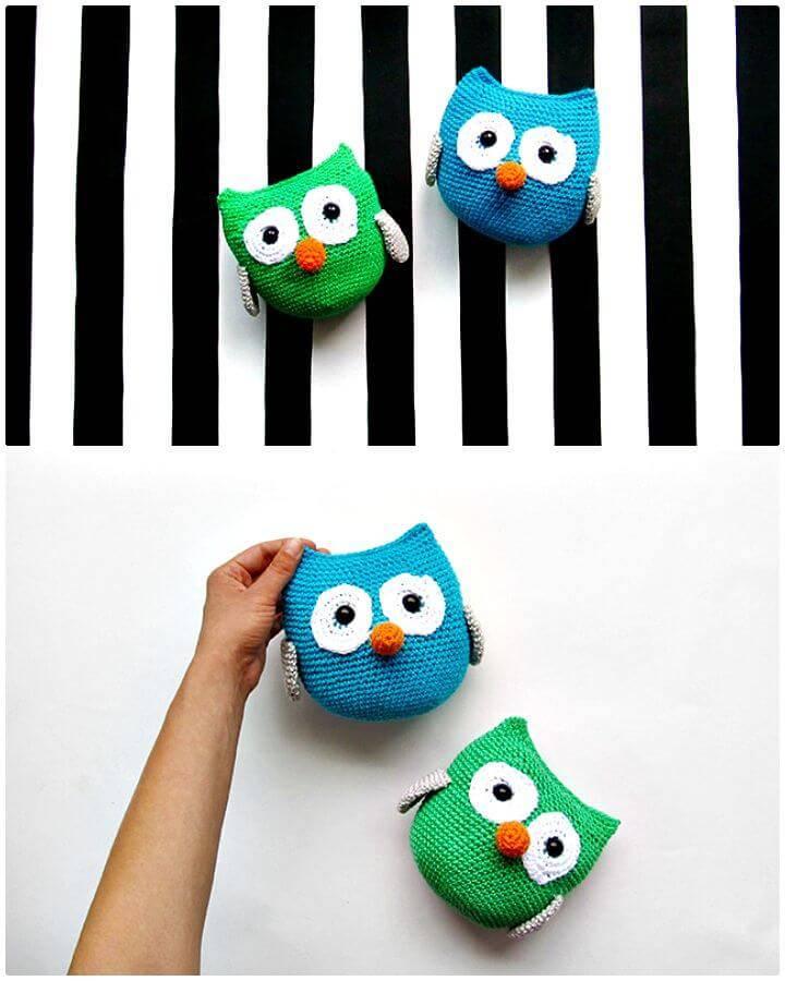 Easy Crochet Free Amigurumi Owl Pattern