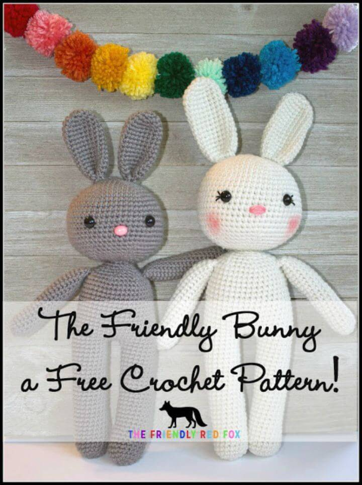Free Crochet Friendly Bunny Amigurumi Pattern