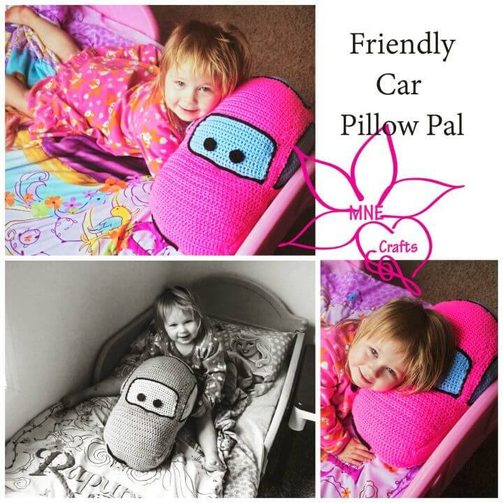 Free Crochet Friendly Car Pillow Pal Pattern