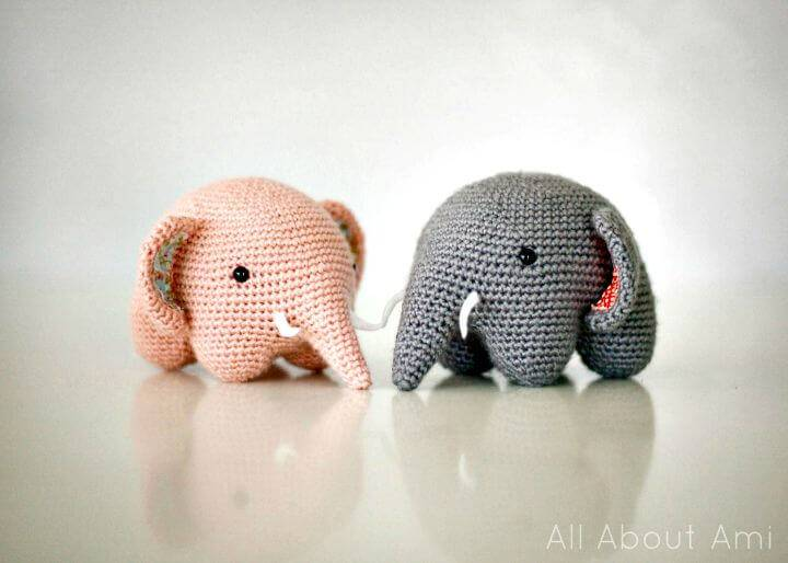 Free Crochet Friendly Elephant Amigurumi Pattern