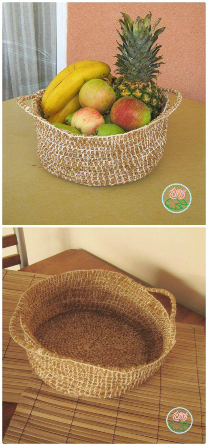 Free Crochet Fruit Basket Pattern