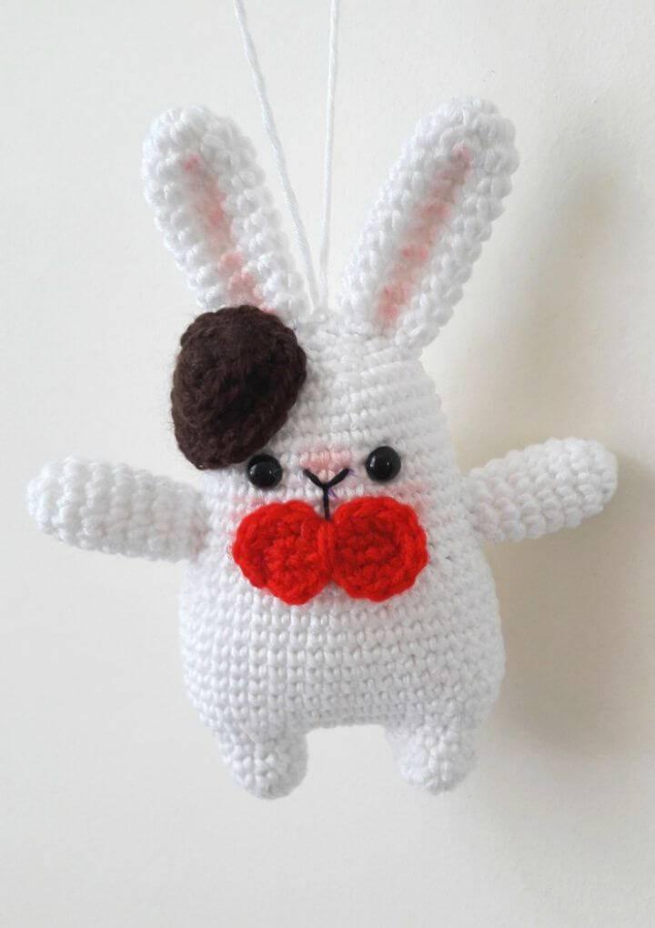How to Crochet Gentleman Bunny Amigurumi Free Pattern