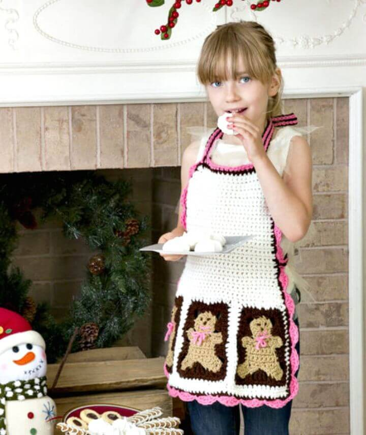 Free Crochet Gingerbread Man Apron Pattern