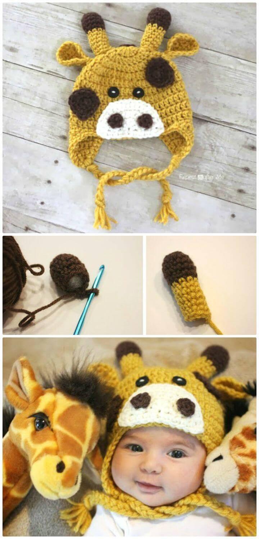 Free Crochet Giraffe Hat Pattern
