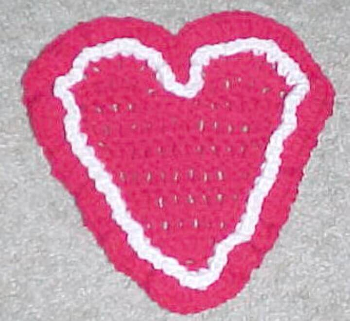 How To Free Crochet Gorgeous Heart Coaster Pattern