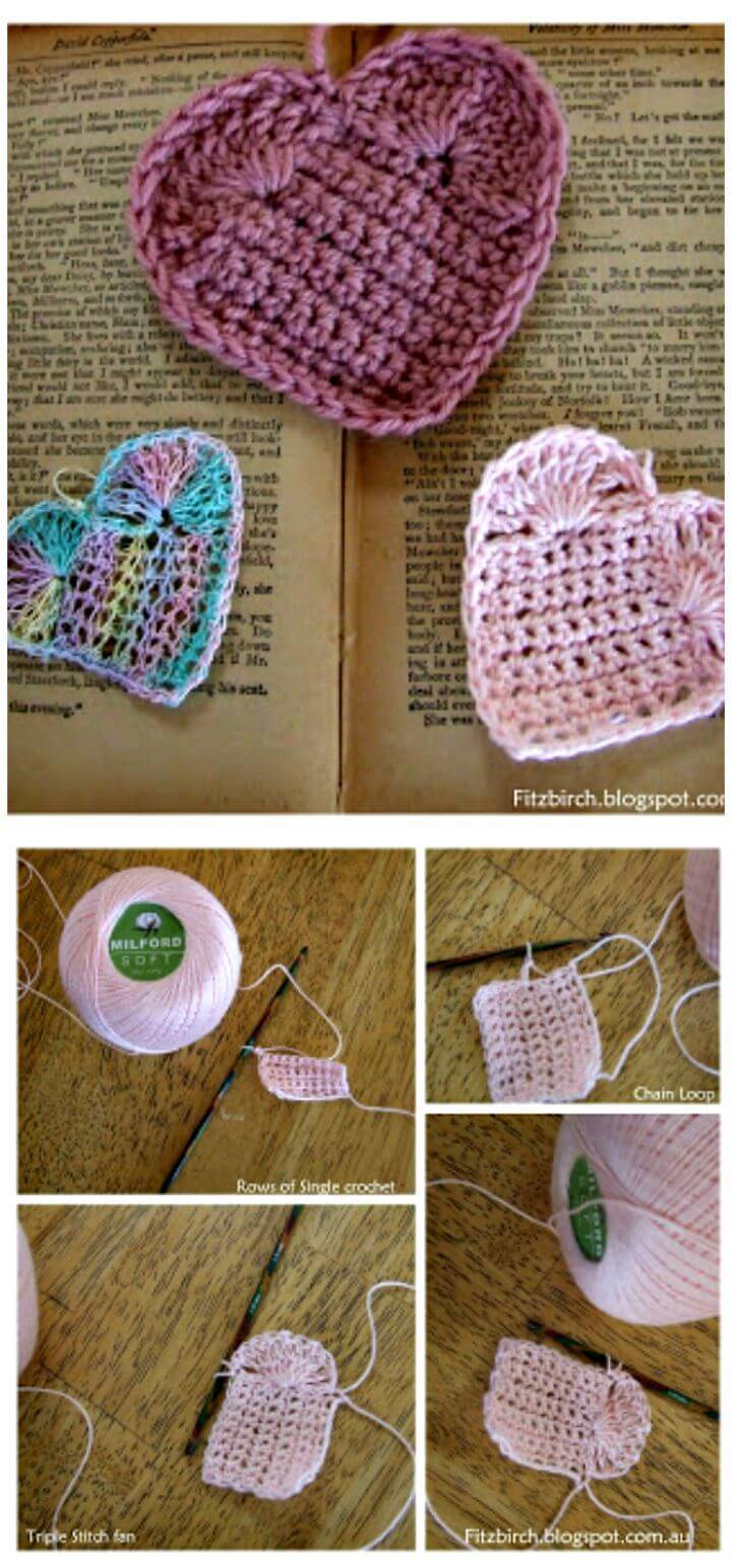 Crochet Gorgeous Heart - Free Pattern