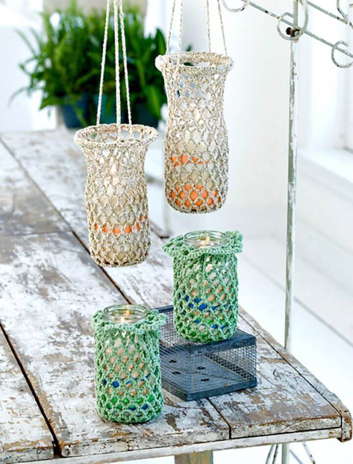 Free Crochet Hanging Luminaries Pattern