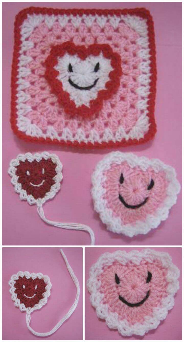 Easy Crochet Happy Hearts - Free Valentine Pattern