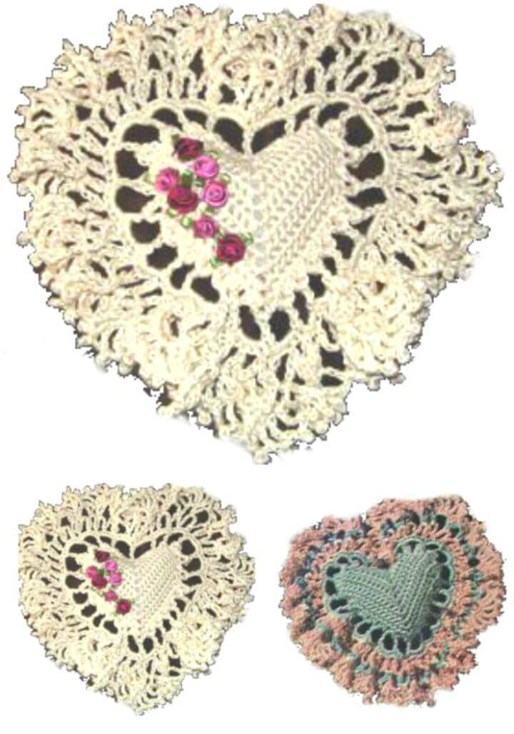 Easy Free Crochet Heart Pillow Pattern