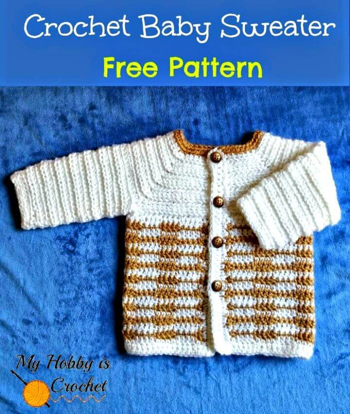 Free Crochet Heartbeat Baby Sweater - Pattern With Tutorial