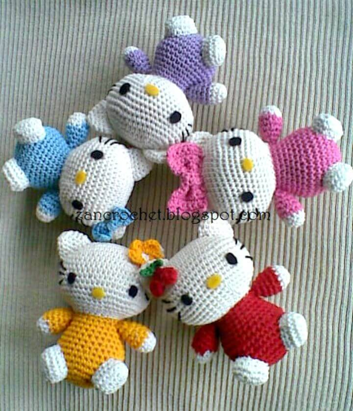 Free Crochet Hello Kitty Amigurumi Pattern
