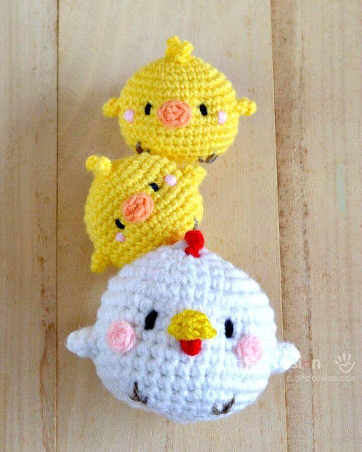 Crochet Hen & Chicks Amigurumi - Free Pattern