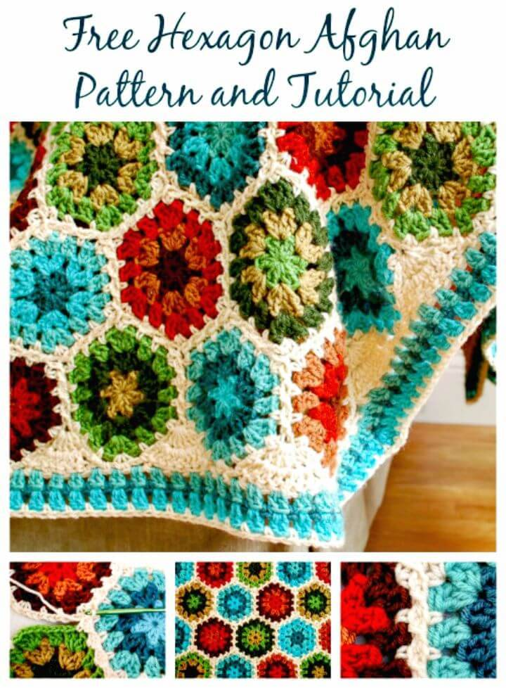 Free Crochet Hexagon Afghan Blanket Pattern And Tutorial