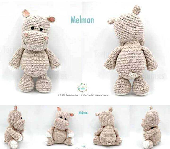 Crochet Hippopotamus Melman And His Friend Pi - Free Amigurumi Pattern
