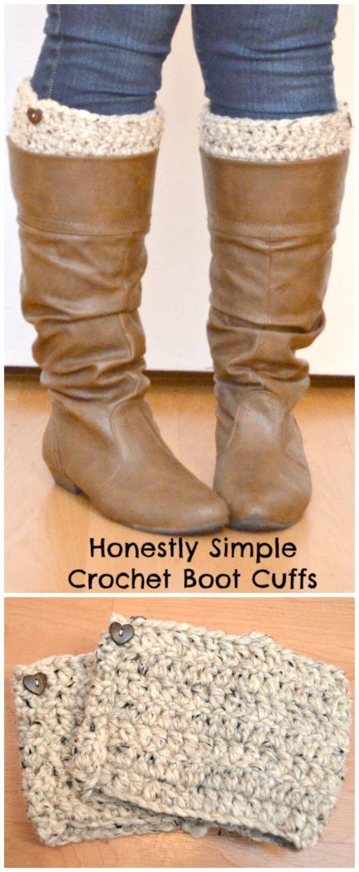 Easy Crochet Honestly Simple Boot Cuffs - Free Pattern