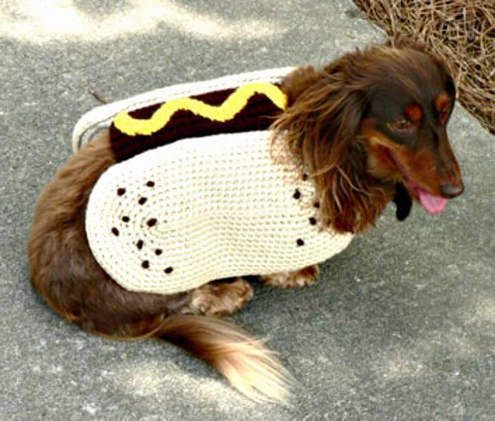 Free Crochet Hot Dog Crochet Coat Pattern