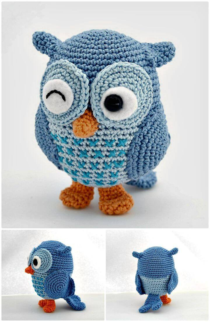 How To Free Crochet Jip The Owl - Free Pattern