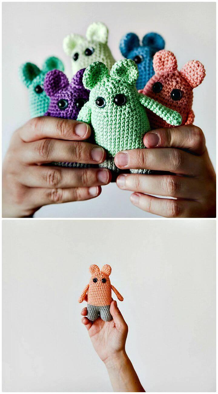 Crochet Kawaii Mouse Free Pattern