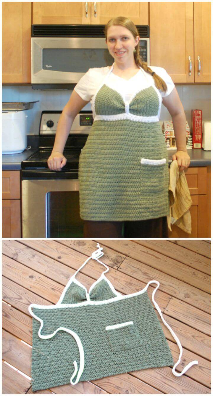 How To An Easy Crochet Kitchen Couture Apron - Free Pattern