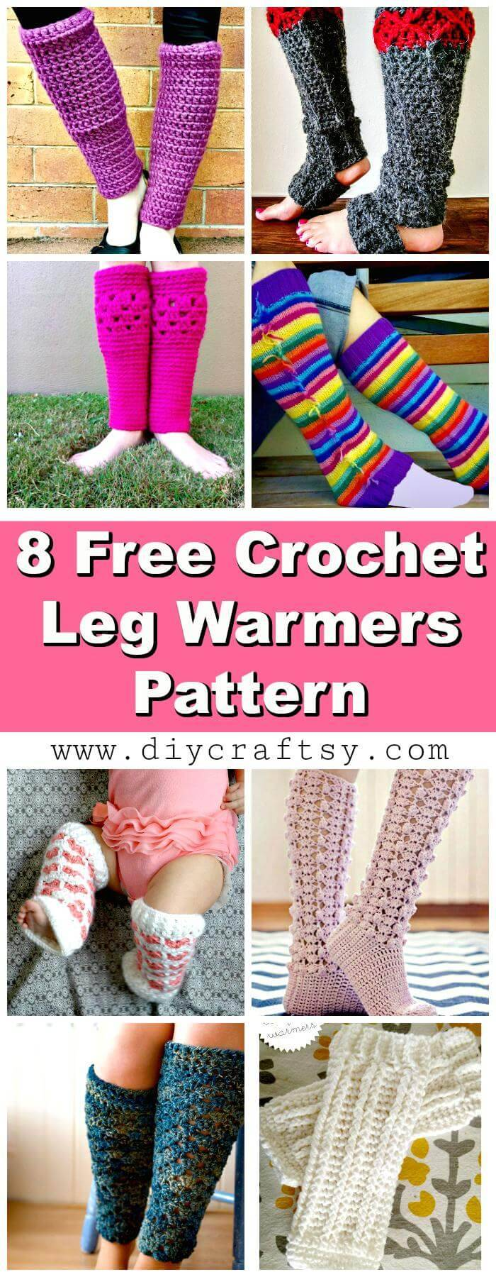 Crochet Leg Warmers - 8 Free Crochet Leg Warmer Patterns - Crochet