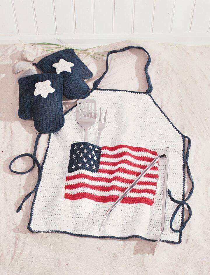 Crochet Lily Sugar 'n Cream BBQ Apron - Free Pattern