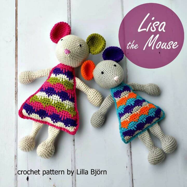 Lisa The Mouse - Amigurumi Crochet Pattern