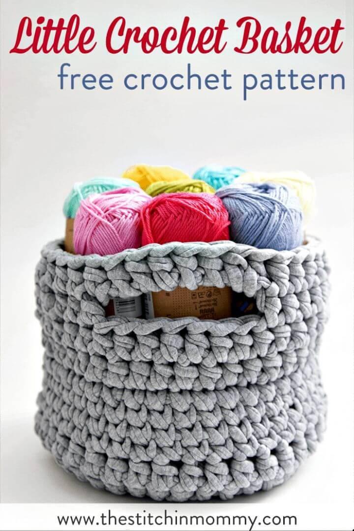 Crochet Little Basket Free Pattern