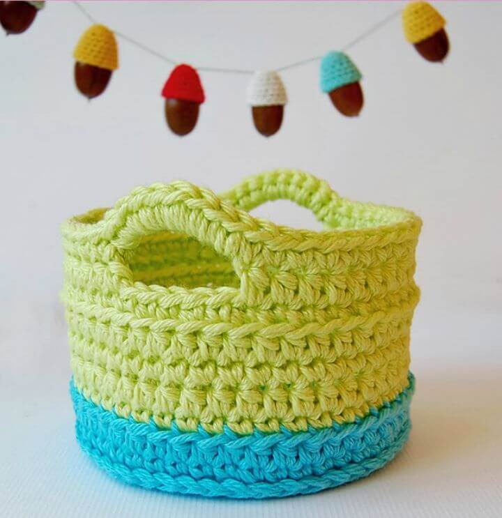 Easy Free Crochet Little Basket Pattern