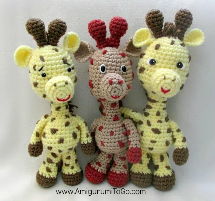 How To Free Crochet Little Bigfoot Giraffe Amigurumi