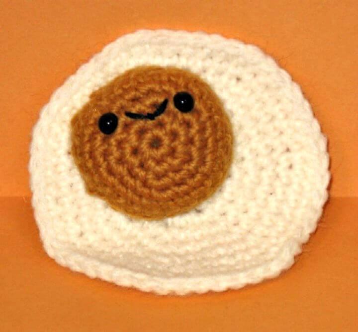 How To Crochet Little Fried Egg Amigurumi Pattern