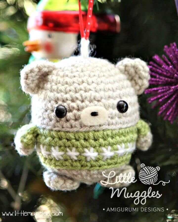 Free Crochet Little Muggles Baby Bear Ornament Pattern