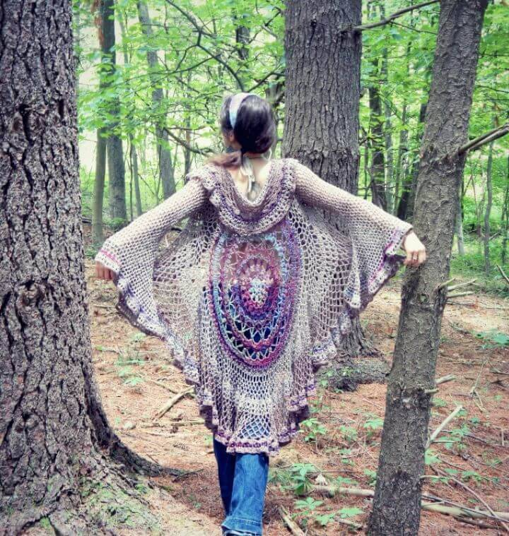 Crochet Lotus Mandala Duster