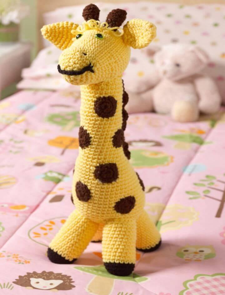 Free Crochet Love My Giraffe Toy Pattern