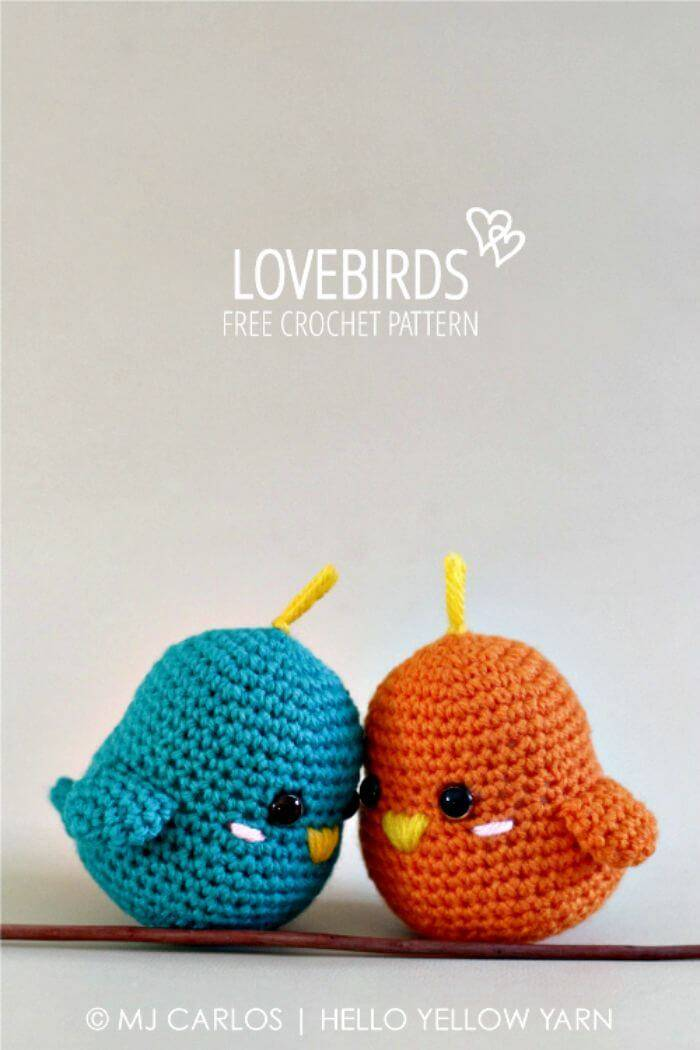 How To Easy Free Crochet Lovebirds Pattern