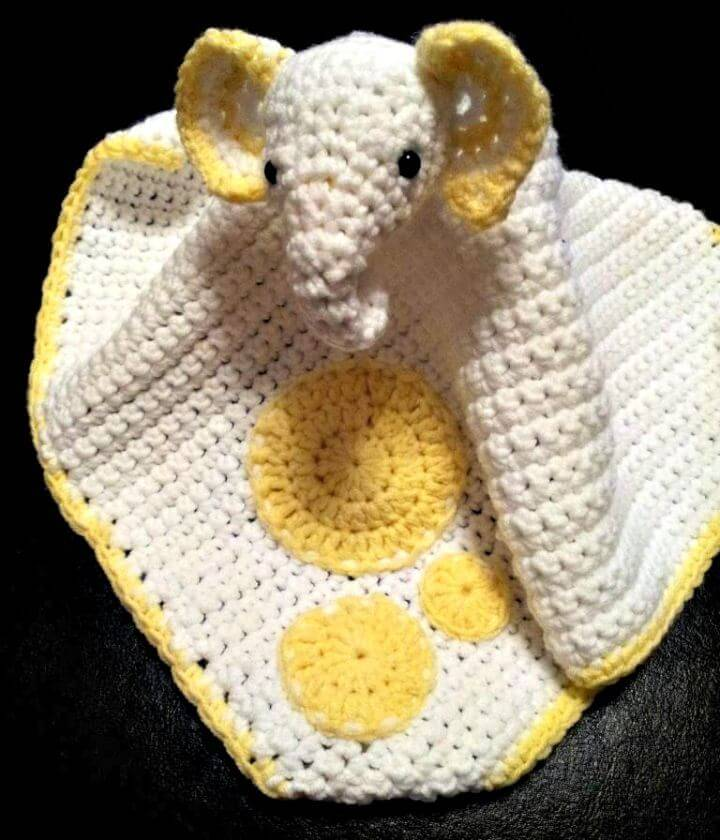 How To Crochet Lovey Elephant Comfort Blanket FREE Pattern