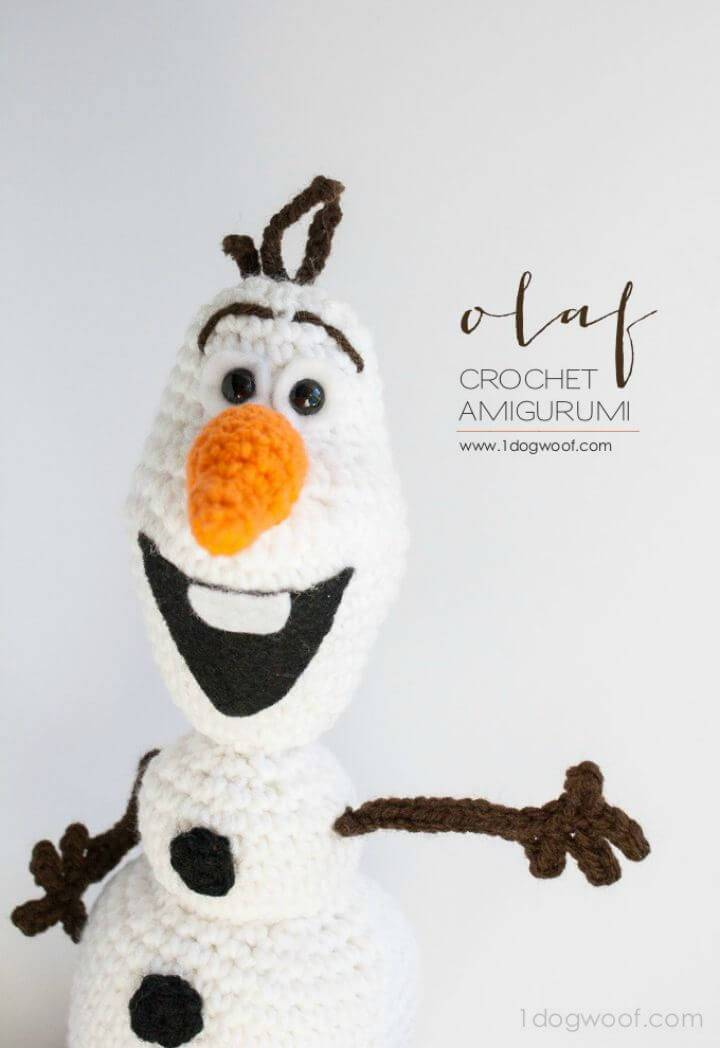 How To Crochet Lovey Olaf From Frozen - Amigurumi Pattern