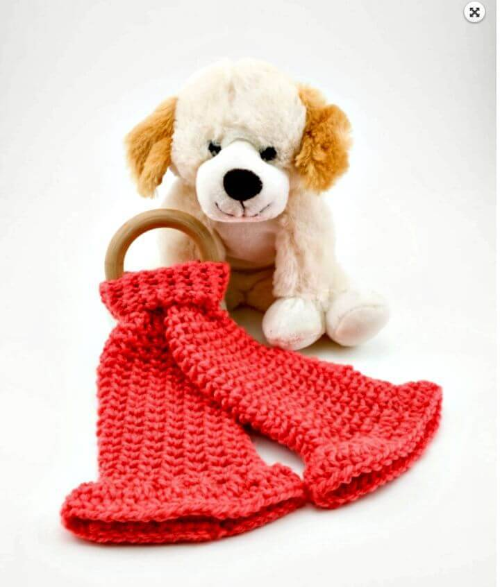 Free Crochet Lovey Teether Pattern