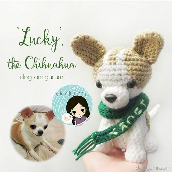 Free Crochet Lucky the Chihuahua Dog Amigurumi Pattern