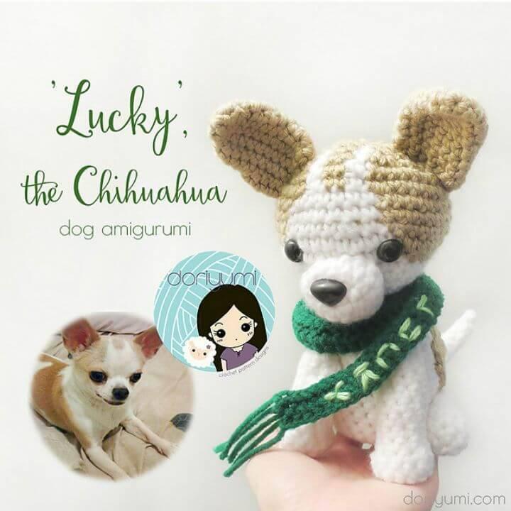 Free Crochet Lucky the Chihuahua Dog Amigurumi Pattern