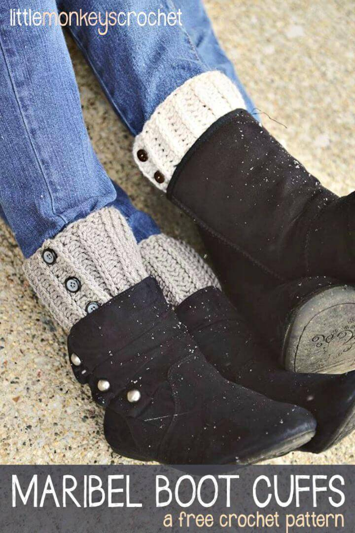 How To Crochet Maribel Boot Cuffs - Free Pattern