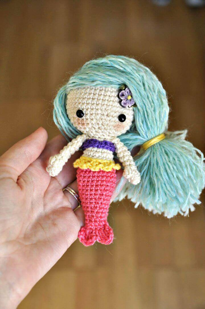 Free Crochet Aurora Mermaid Amigurumi Pattern