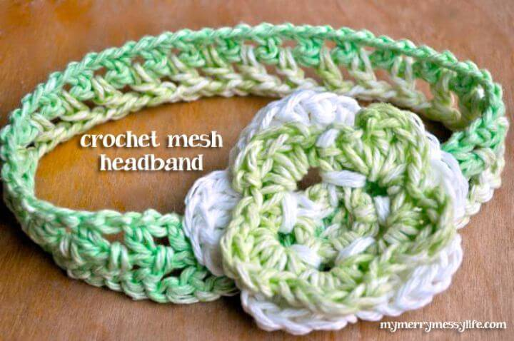 How To Easy Crochet Mesh Pattern Headband - Free Pattern