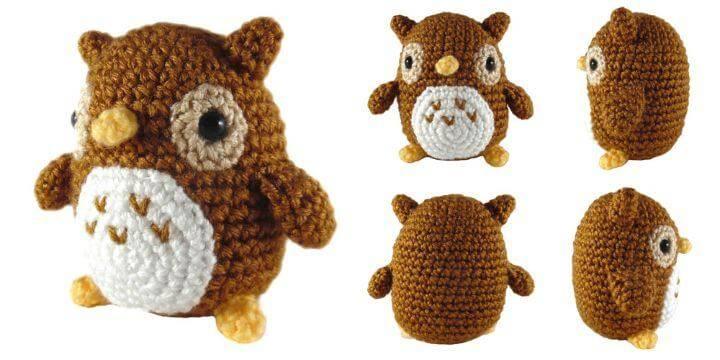 Crochet Mini Free Owl Amigurumi Pattern