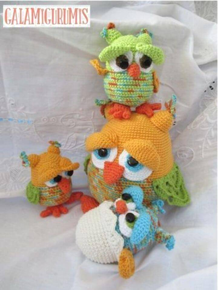 Free Crochet Patterns and Designs by LisaAuch: Free Crochet Owl ... | 957x720