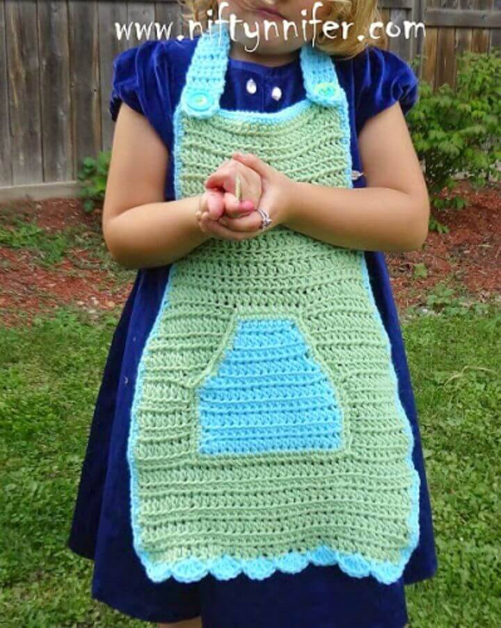 Easy Free Crochet Nanny's Little Helper Children's Apron Pattern