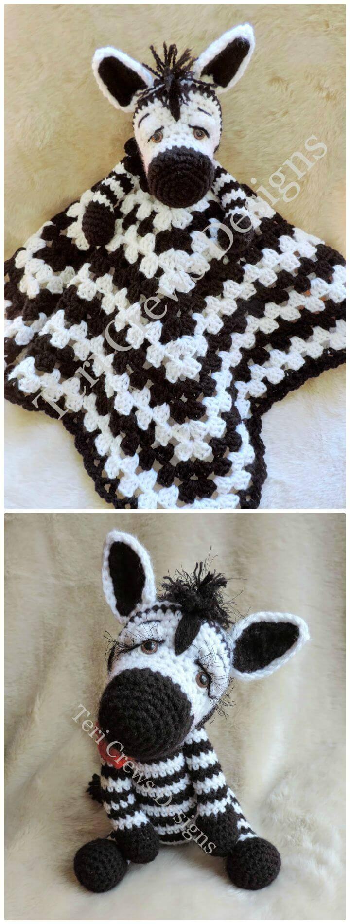 Crochet New Simply Cute Zebra - Free Pattern