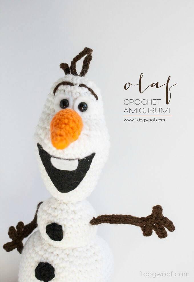 Free Crochet Olaf From Frozen Amigurumi Pattern