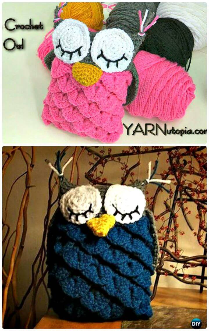 Free Crochet Owl Amigurumi Using The Crocodile Stitch